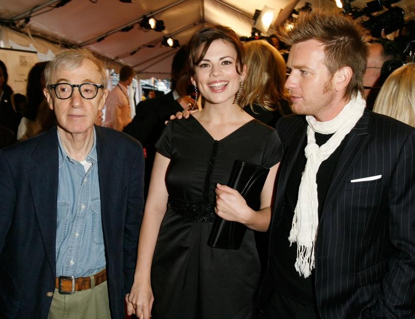 Woody Allen, Hayley Atwell and Ewan McGregor at the Toronto International Film Festival.