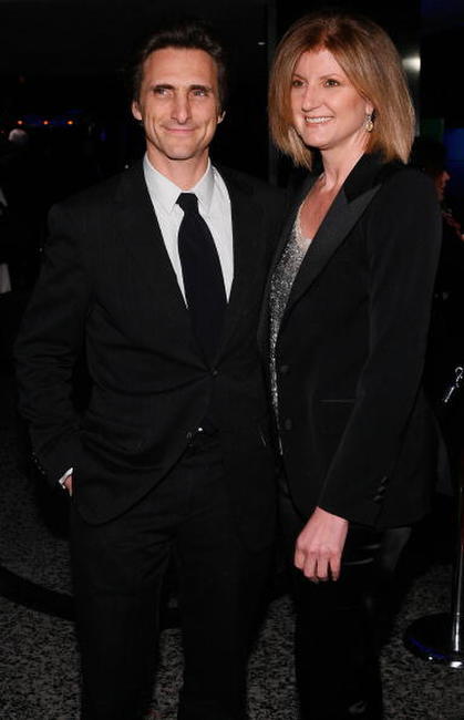 Lawrence Bender and Arianna Huffington at the Golden Globes After Party.