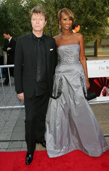 David Bowie and Iman at the Metropolitan Opera 2006-2007 season opening night.