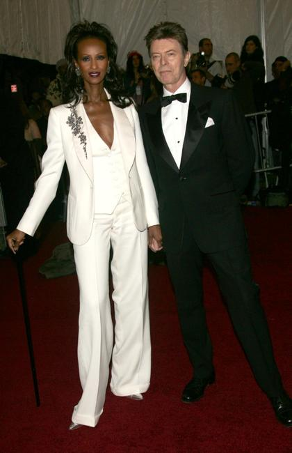 David Bowie and his wife Iman at the Metropolitan Museum of Art Costume Institute Benefit Gala