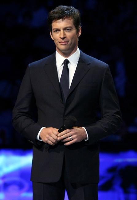 Harry Connick, Jr. at the 57th NBA All-Star Game, part of 2008 NBA All-Star Weekend.