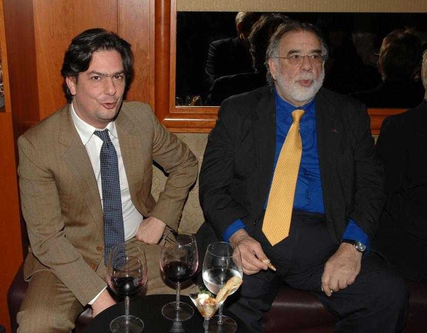 Francis Ford Coppola and Roman Coppola at the California premiere of