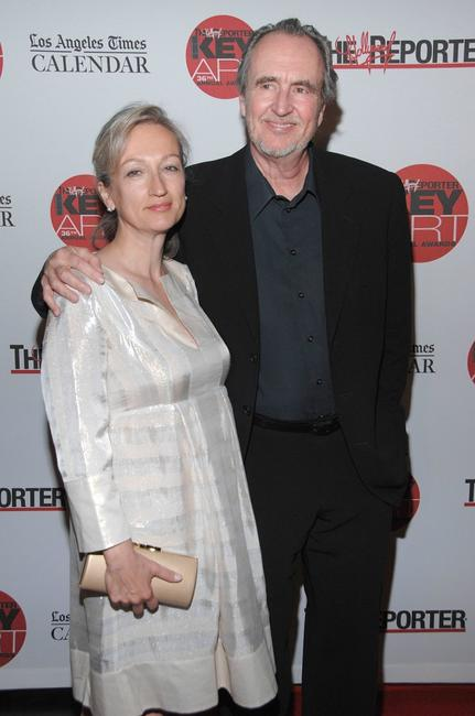 Wes Craven and Iya Labunka at the Hollywood Reporter Key Art Awards.
