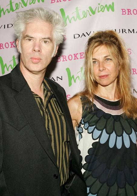 Director Jim Jarmusch and Sara Driver at the premiere of