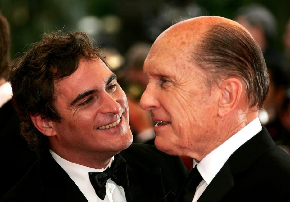Robert Duvall and Joaquin Phoenix at the Cannes Film Festival premiere of