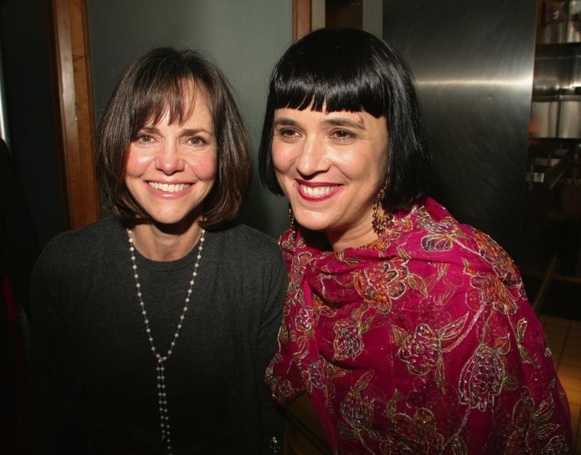 Sally Field and playwright Eve Ensler at the after party for the Opening Night of