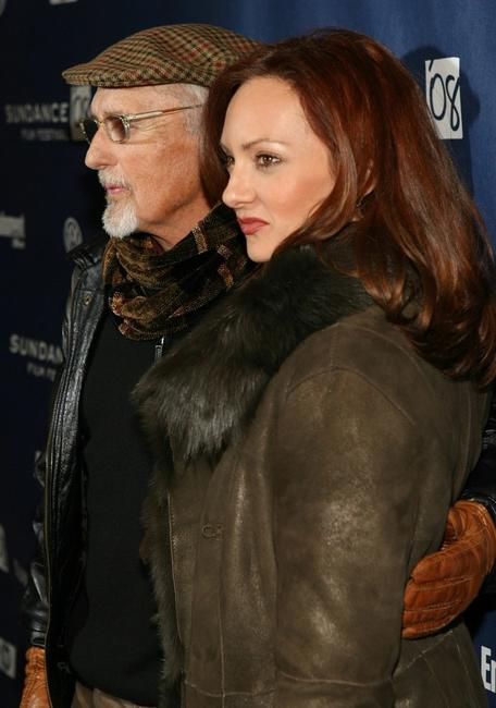 Dennis Hopper and Victoria Duffy at the premiere of