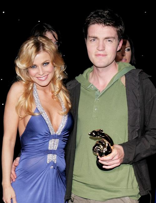 Carmen Electra and Tom Burke at the filming of