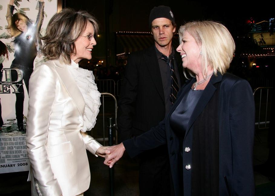 Diane Keaton and Callie Khouri at the premiere of