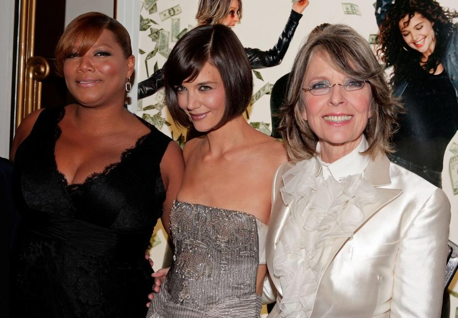 Diane Keaton, Queen Latifah and Katie Holmes at the premiere of