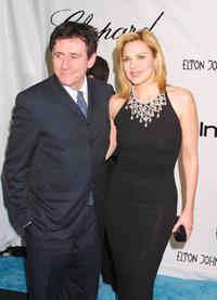 Gabriel Byrne and Kim Cattrall at the Elton John post-Oscars party.