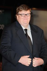 Michael Moore at the Italy premiere of