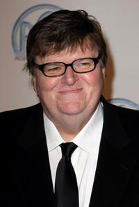 Michael Moore at the 19th annual Producers Guild Awards held at the Beverly Hilton Hotel.