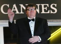 Michael Moore at the screening of his film