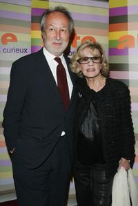 Jeanne Moreau and Arte France President Jerome Clement at the Premiere of