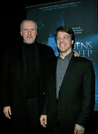 James Cameron and co-director Steven Quale at the premiere of their IMAX film