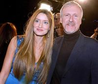 James Cameron and Natascha McElhone at the premiere of