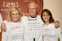 Paul Newman and Glenn Close with Lili Taylor at the Sundance Institute 25th Anniversary Celebration.
