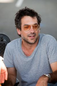 Director/producer Todd Phillips on the set of
