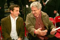 Harold Ramis and Steve Carell at the 2007 NBA All Star Game.