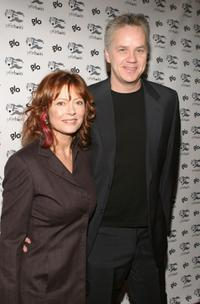 Tim Robbins and Susan Sarandon at the Cocktail Party And Art Exhibit for