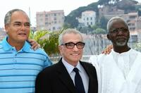 Martin Scorsese, Moroccan director Ahmed Al Maanouni and Mauritanian director Abderrahmane Sissako at the 60th edition of the Cannes Film Festival.
