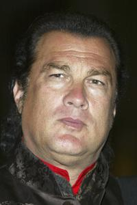 Steven Seagal at the fund raiser for the Ray Charles Performing Arts Center.