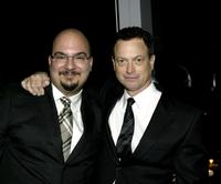Gary Sinise and Anthony E. Zuiker at the premiere screening of