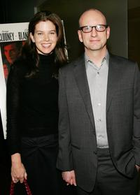 Steven Soderbergh and his wife Jules Asner at the screening of the film