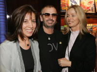 Olivia Harrison, Ringo Starr and Barbara Bach at the launch party of