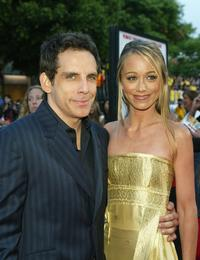Ben Stiller and Christine Taylor at the world premiere of