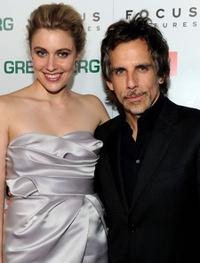 Greta Gerwig and Ben Stiller at the California premiere of