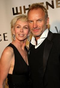 Trudie Styler and Sting at the 2008 Whitney Museum of American Art's gala and studio party.