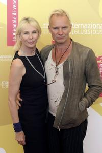 Trudie Styler and Sting at the photocall to promote