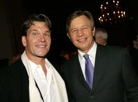 Patrick Swayze and Michael York at the Hallmark Channel's TCA Press Tour party.