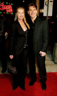 Patrick Swayze and Guest at the Los Angeles premiere of