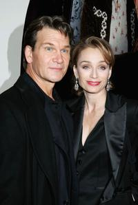 Patrick Swayze and Kristin Scott at the UK premiere of