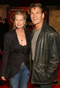 Lisa Niemi and Patrick Swayze at the premiere of