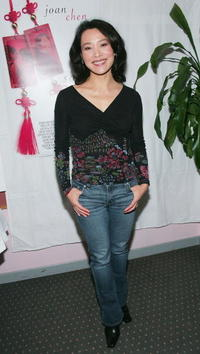 """Joan Chen at the """"Saving Face"""" dinner in Toronto, Canada."""