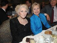 Judy Collins and Hillary Rodham Clinton at the Collins' 70th birthday party.