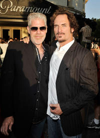 Ron Perlman and Kim Coates at the season two premiere of