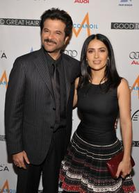 Anil Kapoor and Salma Hayek at the book launch party for