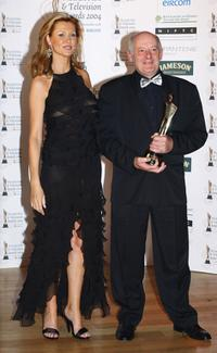 Gerard McSorley and Alison Doody at the Irish Film and Televison Awards.