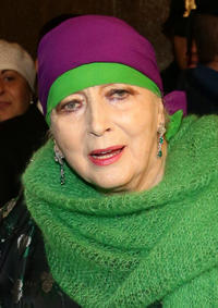 Valentina Cortese at the Teatro Alla Scala 2012/2013 Opening in Italy.