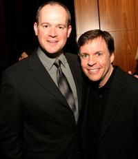 Rich Eisen and Bob Costas at the book launch for Eisen's