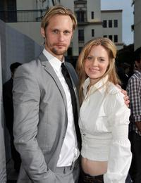 Alexander Skarsgard and Kristin Bauer at the premiere of