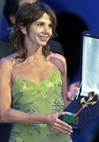 Victoria Abril at the closing ceremony of the 26th Cairo International Film Festival.