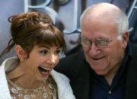 Victoria Abril and Vicente Aranda during a photocall for