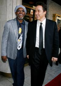 John Cusack and Samuel L. Jackson at the premiere of
