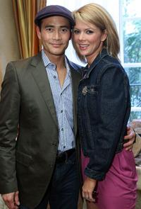 Mark Dacascos and Guest at the 67th Annual Golden Globe Awards.